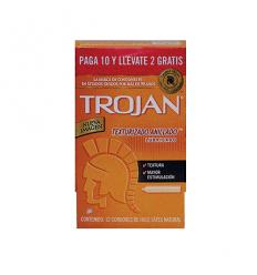 Trojan Texturizado Estuche Oferta X 10 + 2 Condones