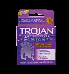 Trojan Muy Sensible Ecstasy Estuche X 2 Condones