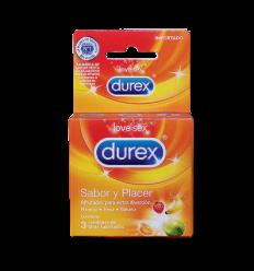Durex Condones Sabor Y Placer X3