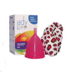 Copa Menstrual Lady Cup Sweet Strawberry (Rosado Oscuro) L